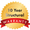 10 years Structural Warranty Badge